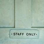 Grungy Staff Door